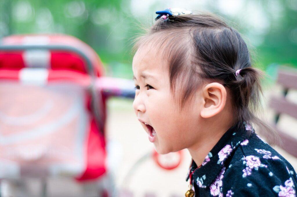 Image of child in tantrum